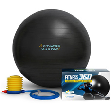 Exercise Ball - 100% Lifetime Guarantee - Premium Quality & Anti Burst - Balance & Stability Ball To Help With Fitness Workout - Best for Pilates, Core, Tone & Ab - Free Pump & Exercises Guide