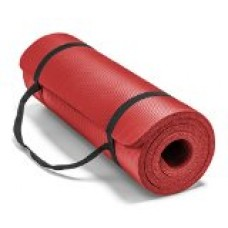 Spoga Premium 5/8-Inch Extra Thick 71-Inch Long High Density Exercise Yoga Mat with Comfort Foam and Carrying Straps, Red