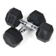J Fit Rubber Coated Dumbbell 20 lb./Qty 2