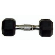 Ader Sports Rubber Coated Dumbbell w/ Contoured Chrome Handle (30-Pound)