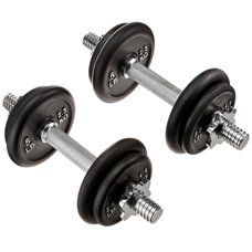 AmazonBasics 40-Pound Adjustable Weight Set with Case
