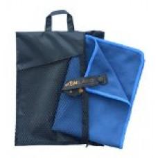 Sunland Microfiber Ultra Compact Travel Sports Towels (Slate Blue, Set:1pc 32Inchx60Inch towel+1pc 16Inchx32Inch towel)