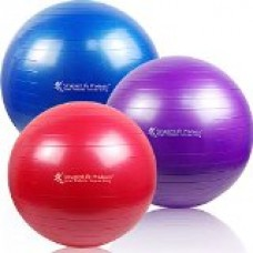 SmarterLife Products Premium Exercise and Stability Ball - #1 for Fitness, Weight Loss, Core Strength, CrossFit, Yoga & Pilates (Red, 55 cm)