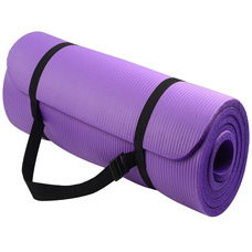 BalanceFrom Go Yoga All Purpose Anti-Tear Exercise Yoga Mat with Carrying Strap, Purple