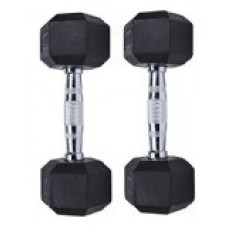 Ziyud Set of 2 Hex Rubber Dumbbell with Metal Handles, Pair of 2 Heavy Dumbbell (5lb , 10lb , 15lb, 20lb, 25lb, 30lb, 35lb (10 LB)