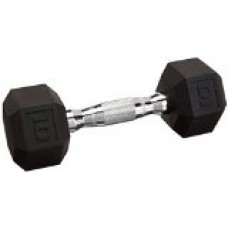 Cap Barbell Workouts Coated Hex Dumbbell, Black, 50 lb