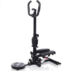 YX the 4 Generation Multi Home Fitness Machine,Twist Plate/Handle Bar Stepper/Dumbbells/Pull Rope All In One.